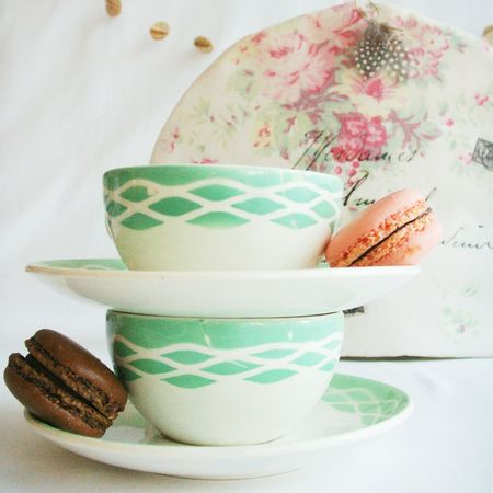 Tea friends set cups